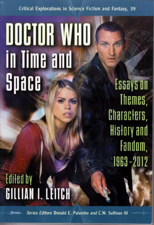 'Doctor Who in Time and Space' edited by Gillian I Leitch. Book cover featuring Billie Piper and Christopher Eccleston