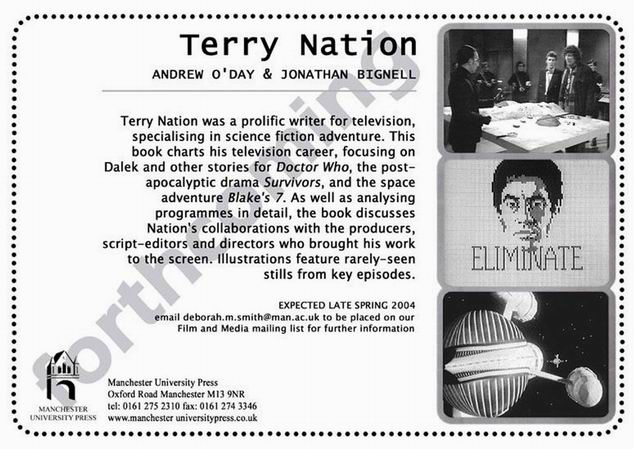 Terry Nation book flyer